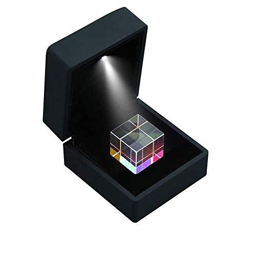 Würfelprismengläser 20 Mm Farbrefraktor Kristallprisma Sechsseitiges Helles Licht Kombinieren Sie Den Würfel Für Den Naturwissenschaftlichen Unterricht 23 mm / 0,9 Zoll