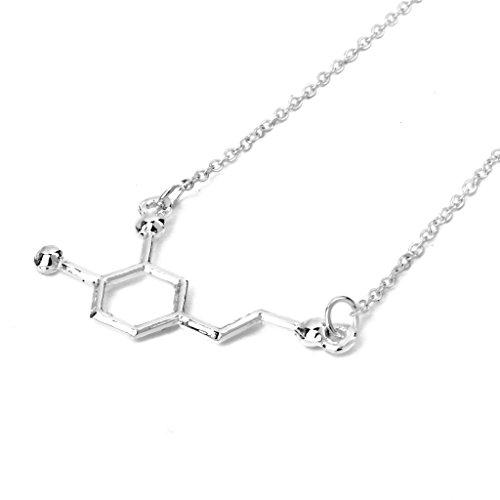 chiwanji Dopamin Anhänger Halskette Chemie Biochemie Kette Halskette