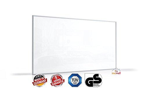 Standard Infrarotheizung 60 x 40 cm weiß mit Alurahmen 10 mm