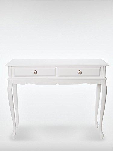 roombird Telefontisch Konsolentisch Terra Weiss mit 2 Schubladen