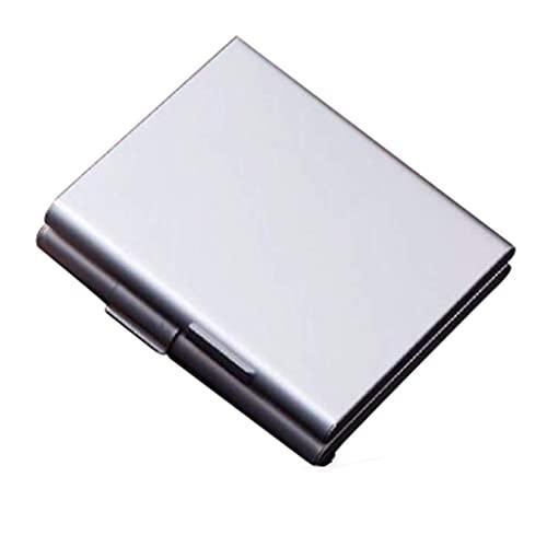 aedouqhr Caja de cigarros Caja de Cigarrillos - Caja de Cigarrillos Aleación de Aluminio portátil Estilo de diseño de Moda Hombres y Mujeres Caja de Tabaco de Negocios al Aire Libre -1 (Color: Plata,