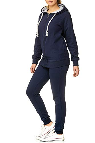 Violento Damen Jogging-Anzug | Anker 706 (XL, Blau)