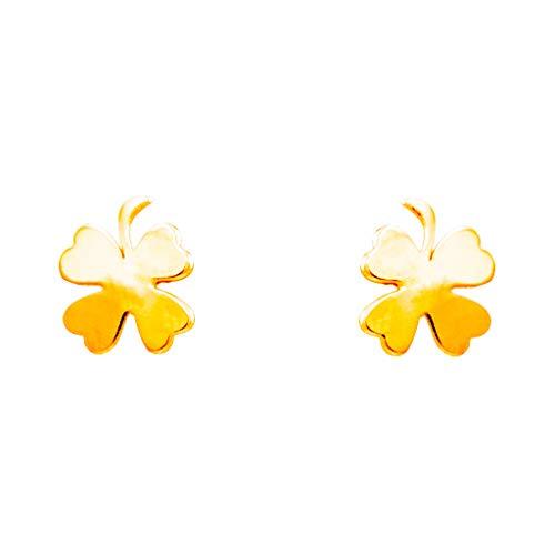 Pendientes con forma de flor de oro...