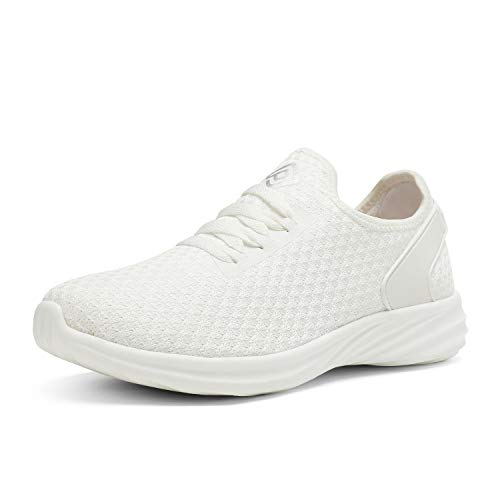 DREAM PAIRS Women's White Slip On Sneakers Lightweight Walking Shoes Size 9.5 US DHF19004L