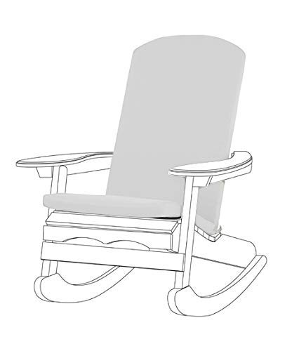 Gardenista Garden Premium Adirondack Chair Seat Pad | Secure Ties | Foam Filled | Water Resistant Zipped Cover | Soft Durable and Comfy (Grey)