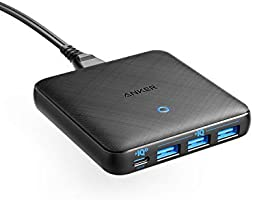 Anker PowerPort Atom III Slim (Four Ports)(PD 充電器 65W 4ポート USB-C)【PowerIQ3.0搭載 / PD対応/GaN(窒素ガリウム)採用】 iPhone iPad iPod...