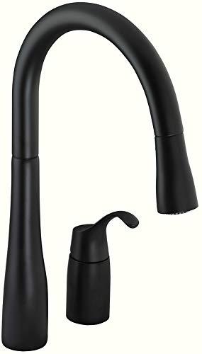 KOHLER K-647-BL Simplice Kitchen Sink Faucet, Matte Black