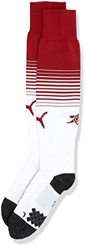 PUMA Herren AFC Socks Striped Stutzen, Chili Pepper/White, 3