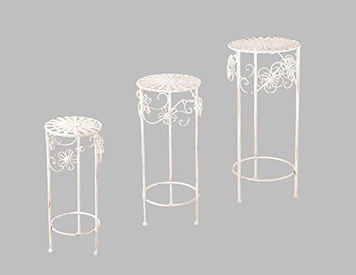 DENK Rom Table d'appoint en métal Crème Petit modèle