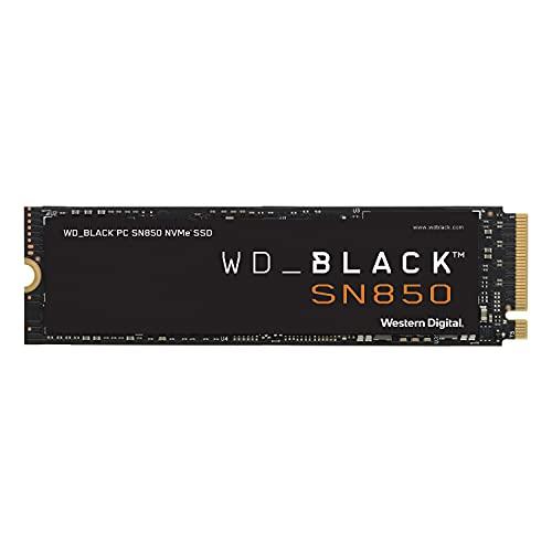 WD_BLACK 500GB SN850 NVMe Internal Gaming SSD Solid State Drive - Gen4 PCIe, M.2 2280, 3D NAND, Up to 7,000 MB/s - WDS500G1X0E