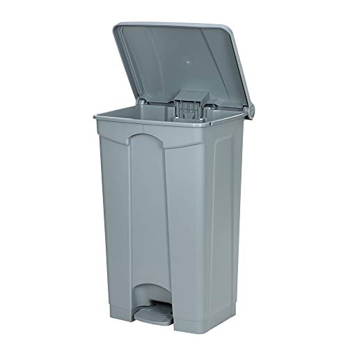 Heavy Duty Trash Can, Hands-Free Disposal Square Container, 23-Gal Residential Garbage Can