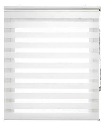 Estoralis Shae Estor Enrollable Doble Tejido, Noche y día, Crema, 170 x 250 cm