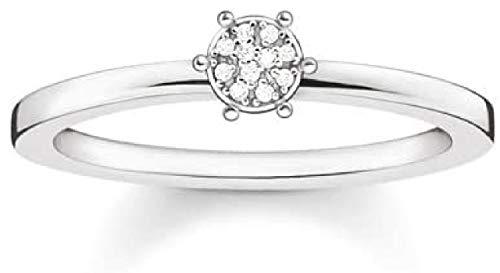 Thomas Sabo Glam & Soul D_TR0012-725-14-54 - Anillo de plata 925 con diamante (0,05 ct), color blanco