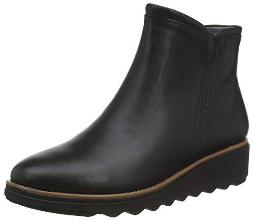 Clarks Damen Stiefelette Klassisch, Black Leather, 39 EU