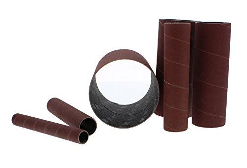 ABN Aluminum Oxide Spindle Sanding Sleeves 6pk, 240-Grit, 4.5in Length – 1/2, 3/4, 1, 1.5, 2, 3 inch Sandpaper for Wood