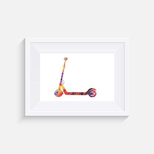 Roller Inspirier - Drucken - Poster - Aquarelle - Wandkunst- verschiedene Größen(Rahmen Nicht Inbegriffen)