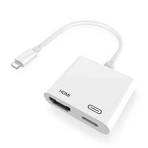 Adattatore da Lighting a HDMI, Adattatore AV Digitale 1080P, Connettore HDMI Per Schermo di Sincronizzazione Per iPhone e iPad (Compatibile con iOS 13, Nessuna Applicazione Richiesta)