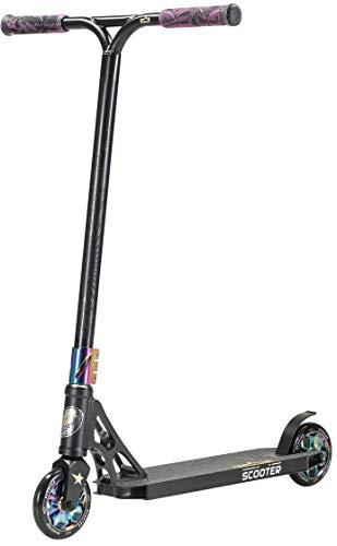STAR SCOOTER Professional Freestyle Kick Stunt Scooter ab 8 Jahre | 120mm ABEC-9 Lager Alu Kinder City Roller mit HIC für Fortgeschrittene | Schwarz Chrom