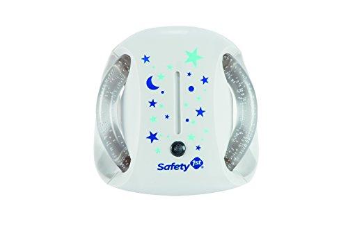 Safety 1st Nachtlicht Steckdose, Automatisches Nachtlicht mit Lichtsensor, beruhigende Nachtlampe für Baby und Kinder, Stromsparend, Kein Erhitzen, weiß