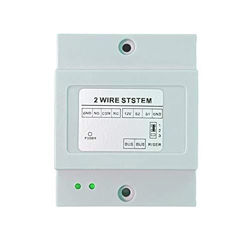 Videoportero 2 hilos 1 2 3 4 monitor LCD táctil familiar bifamiliar (1 actuador relay para doble borrón)