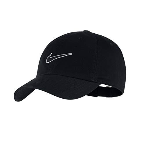Nike H86 Essential Swoosh - Gorra (talla única), color negro