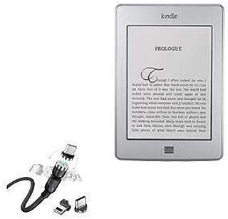 Cabo Kindle Touch, BoxWave [MagnetoSnap AllCharge] Cabo de carregamento magnético USB tipo-C Micro USB para Amazon Kindle ...