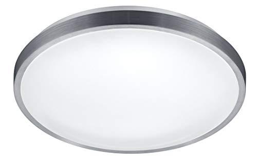 Reality Leuchten LED Deckenleuchte Izar R67821101, Aluminium, Acryl weiß, 20 Watt, Bewegungsmelder, Dämmerungssensor