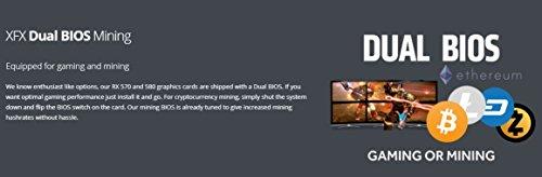 XFX RX-580P8DFD6 Scheda Grafica Radeon RX-580, Nero