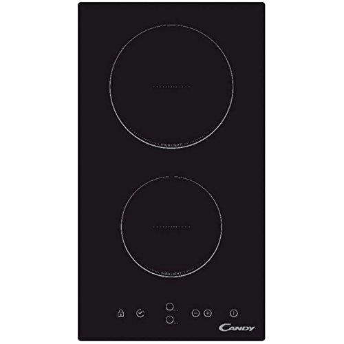 Plaque Vitrocéramique 2 feux-Candy CDH30 - Plaque de cuisson Vitrocéramique - Dimensions produit (LxP en cm) : 28.8 / 51