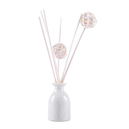 jieGorge Reed Oil Diffusers with Natural Sticks, Ceramic Bottle and Scented Oil 30ML, Home Decor, for Christmas Day (D)