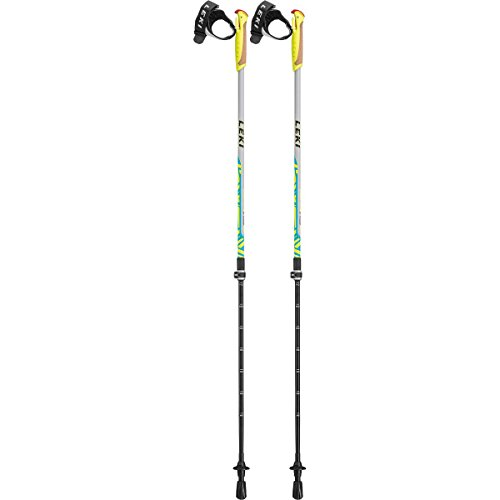 LEKI Kinder Walker XS Nordic Walkingstöcke, Light Grey/Yellow