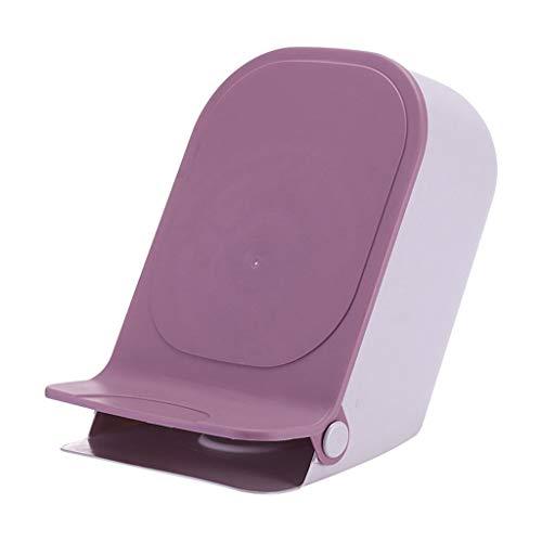 liushop Bote de Basura con la Tapa Pedal Trash Hogar Sala de Estar Dormitorio Baño Papel de desecho Cesta Cocina Cocina Creativa Papeleras (Color : Purple)