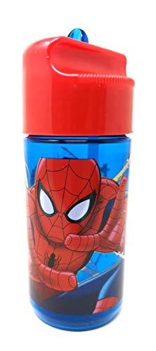 Theonoi Kinder Tritan Trinkflasche Wasserflasche wählbar Paw Mickey Minnie Avengers Frozen Spiderman BPA-frei auslaufsicher leicht bruchsicher Schule Sport Fitness (Spiderman)