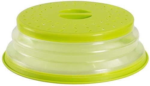 Nifogo Tapa Plegable para Microondas,Tapa microondas Plegable Colador,sin BPA y no tóxico,Salpicaduras,para Lavar Frutas (Verde)