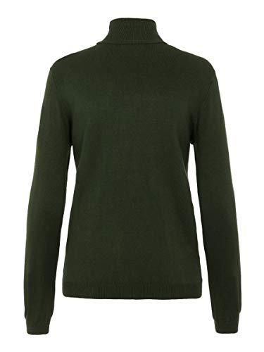 PIECES PCESERA LS Rollneck Knit Noos Suéter, Bolsa de Terciopelo, XL para Mujer