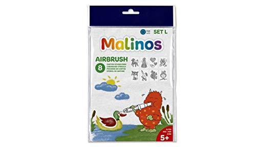 MALINOS 301008 Stifte Airbrush Schablonen Set L, Sweeties