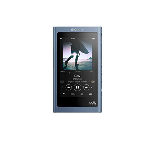 Sony NW-A55/L Walkman NW-A55 Hi-Res 16GB MP3 Player, Moonlight Blue, Moonlit Blue