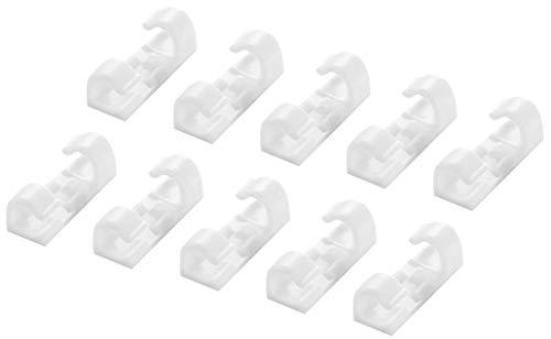 NUOBESTY 20 Stück Kabelorganisator Selbstklebende Kabelklemmen Kabelhalter Kabelklemmen Kabelhalter Management für Auto Büro Und Zuhause