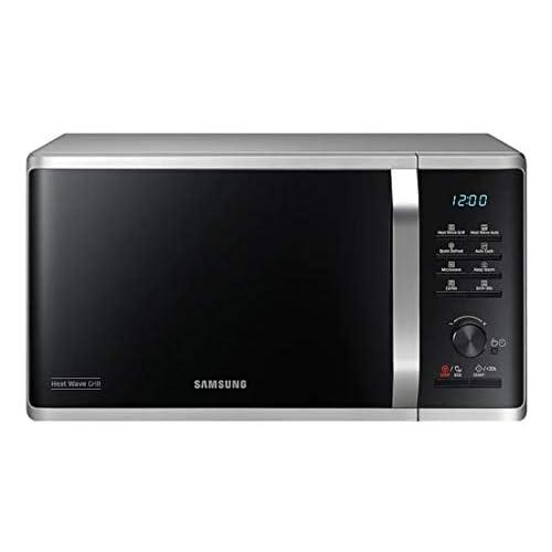 Samsung MG23K3575CS Forno Microonde Grill, 23 Litri, 800 W, Grill 1100 W, Argento