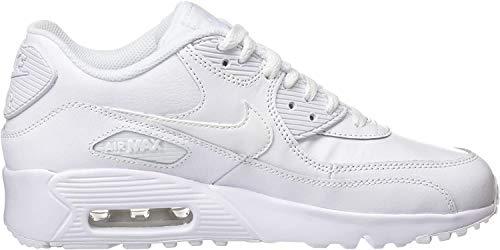 Nike Jungen AIR MAX 90 LTR (GS) Traillaufschuhe, Weiß (White/White 100), 38 EU
