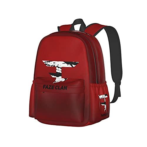 Mochila escolar unisex con impresión 3d Fa_Ze Te_Am Cl_An Funny Senderismo Laptop Daypacks