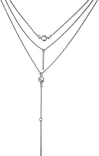 ZGYFJCH Co.,ltd Collar, Collar Bohemio, Collares Multicapa para Mujer, Gargantilla de Cristal, Collar Largo, Regalo de joyería