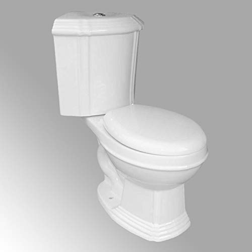 White Ceramic Round Space Saving Dual Flush