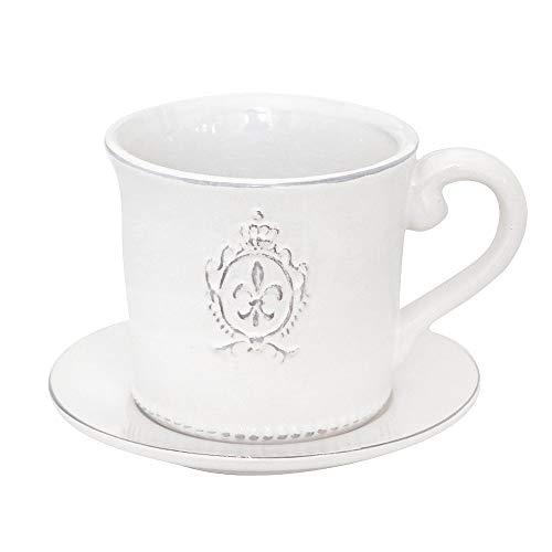Grafelstein French Lily - Vaso da fiori in stile shabby chic,...