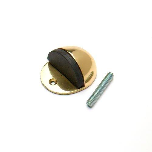 Bulk Hardware bh0570150mm (5,1cm) Bodenmontage Türstopper Stopper–oval Messing poliert