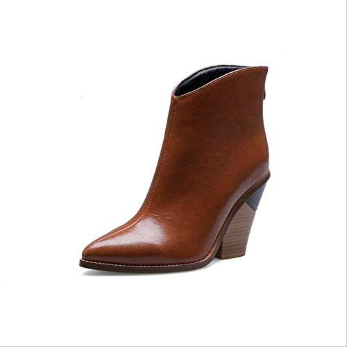 SHZSMHD Snake Print Zip Blok Hakken Dames Schoenen Boten Westerse Enkellaarzen Cool Boot voor Vrouwen