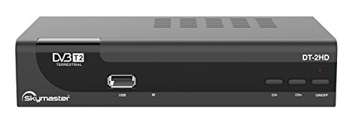 Skymaster DT-2HD DVB-T/T2 Receiver (Full HD, HEVC/H.265, HDTV, HDMI, SCART, USB 2.0) schwarz