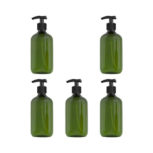 SOLUSTRE 10 Unidades de Botellas de Plástico Vacías de 300Ml Botella Dispensadora de Champú Botellas de Prensa de Bomba Rellenables