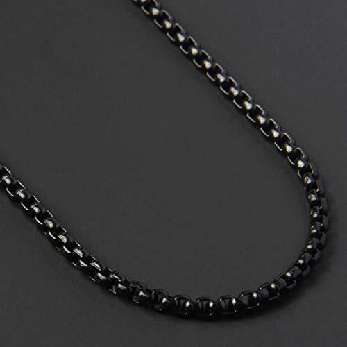 Collar de Cadenas de Caja de Moda Simple, Collar de Cadena d