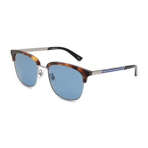 Gucci Gafas de Sol GG0697S LIGHT HAVANA/BLUE 55/18/145 hombre